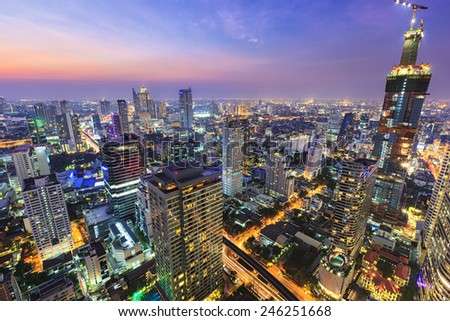 Cityscape building center of Bangkok - stock photo