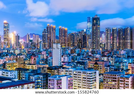Cityscape in Hong Kong - stock photo