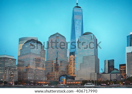 Cityscape in newyork city  of Manhattan
