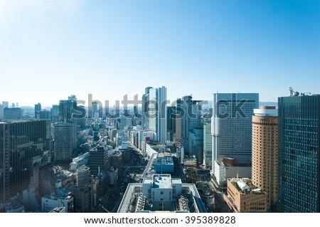 Cityscape Japan Osaka - stock photo