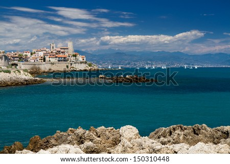 Cityscape of Antibes, Provence, Cote d'Azur, France - stock photo