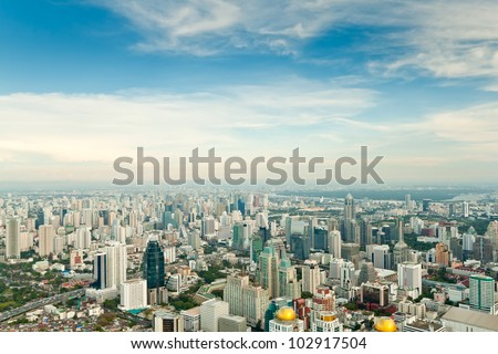 cityscape of bangkok - stock photo