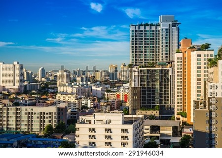 Cityscape of Bangkok city Thailand