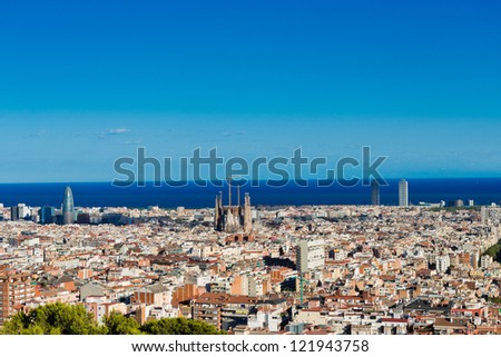 Cityscape of Barcelona. Spain.
