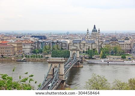 Cityscape of Budapest, capital of Hungary. - stock photo