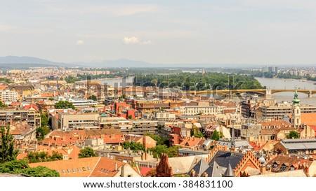 Cityscape of Budapest, capital of Hungary - stock photo