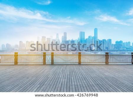 Cityscape of Chongqing  - stock photo