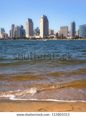 Cityscape of Downtown San Diego and San Diego Bay, San Diego, Southern California