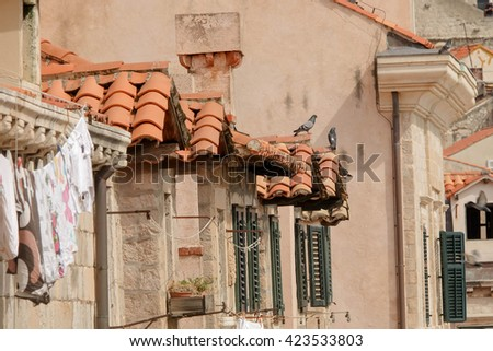 Cityscape of Dubrovnik Old Town on sunny day