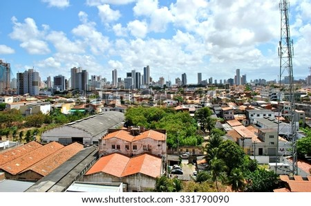 Cityscape of Fortaleza, Brazil - stock photo
