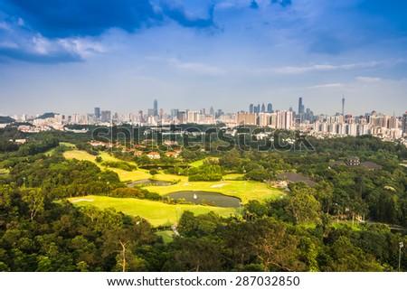 Cityscape of guangzhou,china - stock photo