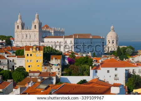 Cityscape of Lisbon in a summer day