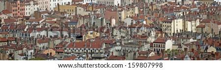 Cityscape of Lyon, France - stock photo