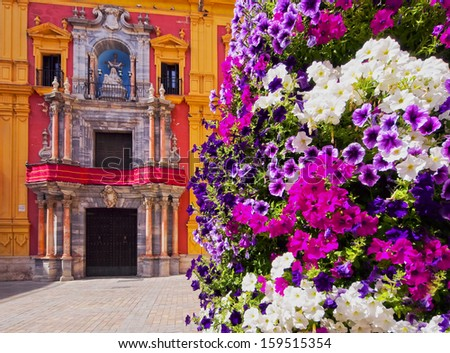 Cityscape of Malaga - capital of the Province of Malaga on Costa del Sol in Andalusia, Spain