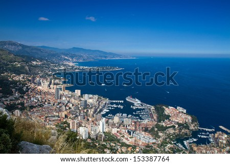 Cityscape of Monaco, French Riviera - stock photo