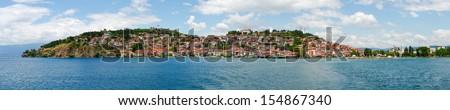 Cityscape of Ohrid in Macedonia - stock photo