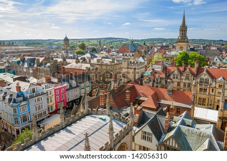 Cityscape of Oxford. England, Europe - stock photo