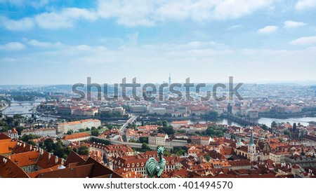 Cityscape of Prague, Czech