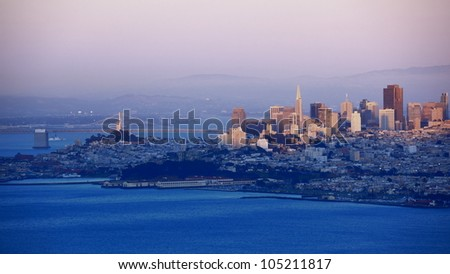 cityscape of San Francisco at evening
