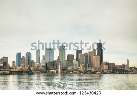 Cityscape of Seattle as seen from the bay