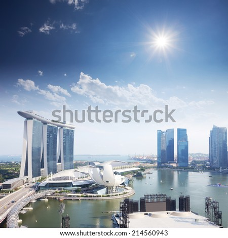 cityscape of singapore in the daytime