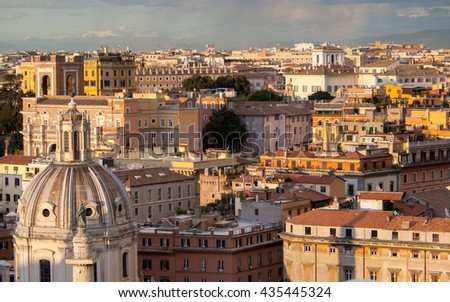 Cityscape of the Rome.