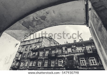 cityscape of Warsaw, district Praga