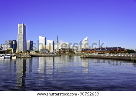 Cityscape - port of Yokohama, Japan