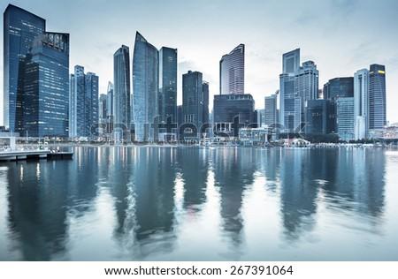 Cityscape Singapore - stock photo