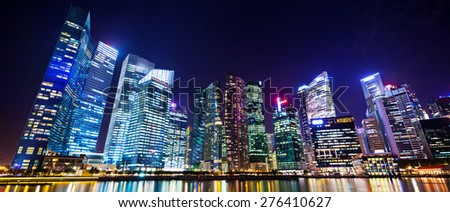 Cityscape Singapore at night