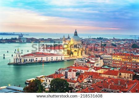 Cityscape twilight  in Venice, Italy.  - stock photo