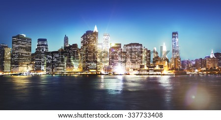 Cityscape Urban Scene Outdoors Skyline Concept - stock photo