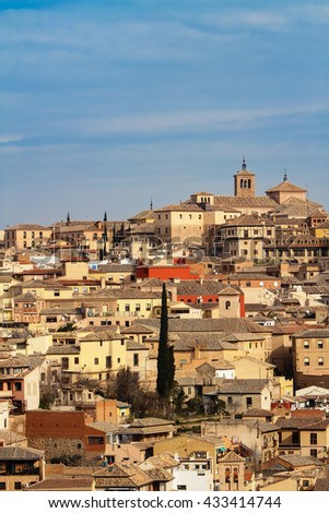 Cityscape view at town Toledo in Spain