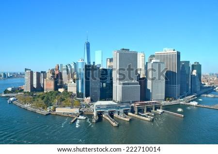 Cityscape view of Manhattan, New York City, USA. - stock photo