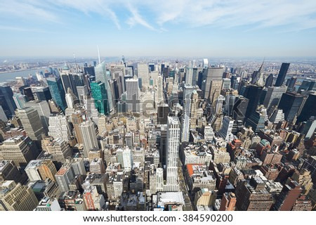 Cityscape view of Manhattan, New York City, USA