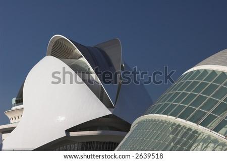 ciudad de las artes y sciencias in valencia, spain - stock photo