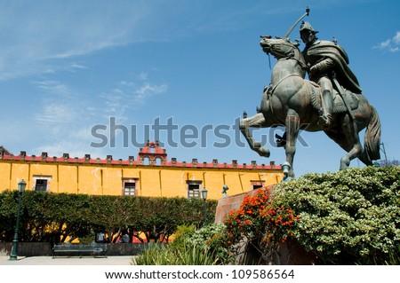 Civica square, San Miguel de Allende (Mexico) - stock photo