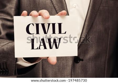Civil Law - stock photo