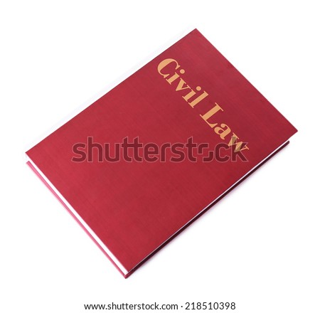 Civil Law book isolated on white