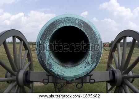 Civil War Cannon - stock photo