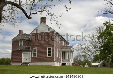 Civil War era house in Virginia - stock photo