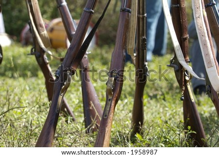Civil War reenactment gun detail