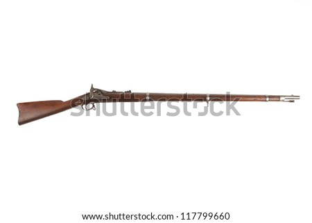 Civil War Rifle - stock photo