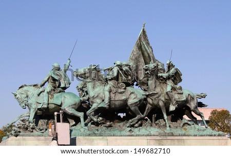 Civil War Statue in Washington DC, USA. - stock photo