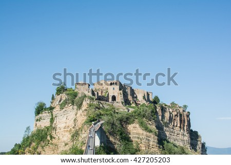 civita landscape of the town of Bagnoregio is called the city that dies in Lazio central Italy near Rome