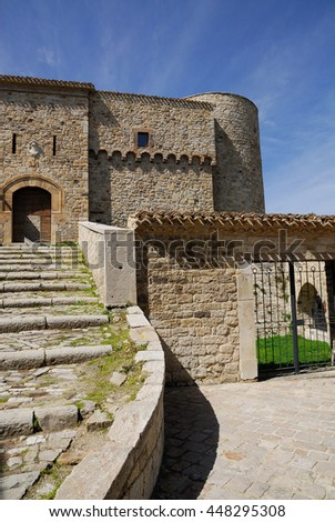Civitacampomarano medieval castle, a small town in Molise, Italy