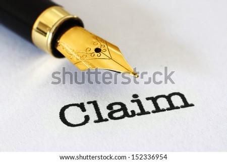 Claim form Selective Focus, Shallow Deep Of Field - stock photo