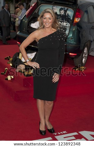 "Claire Sweeney arrives for the premiere of ""The Sweeney"" at the Vue cinema, Leicester Square, London. 04/09/2012 Picture by: Simon Burchell"