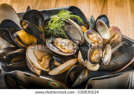 Clam - stock photo