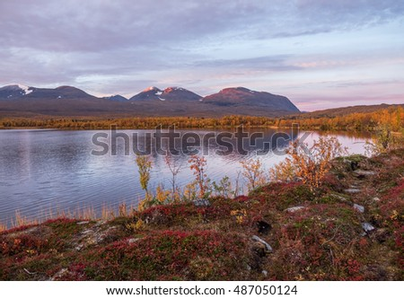 Clam lake reflection in abisko national park